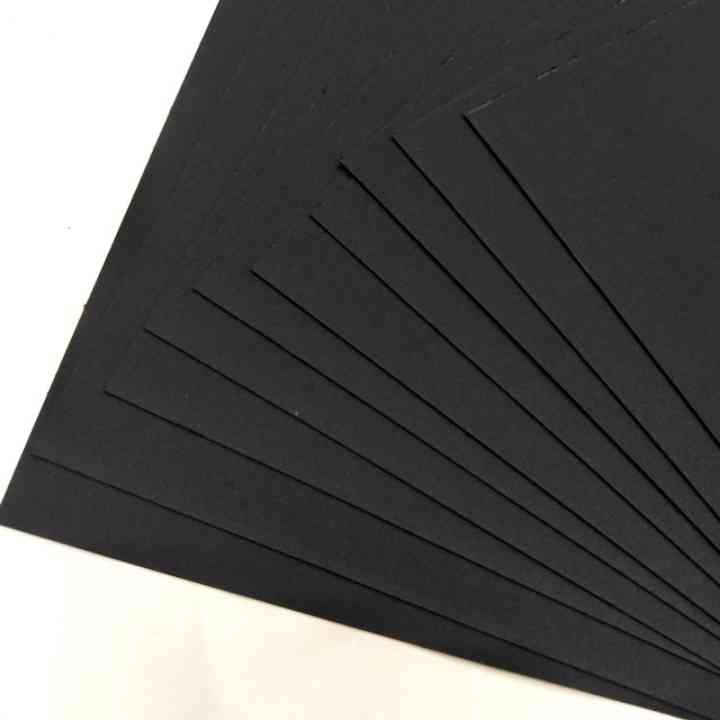 Custom Printed Hard Cardboard Black Paper