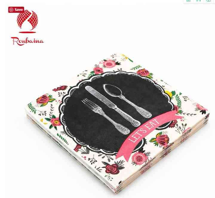 Embossed Color Paper Napkins Handkerchief Serviettes