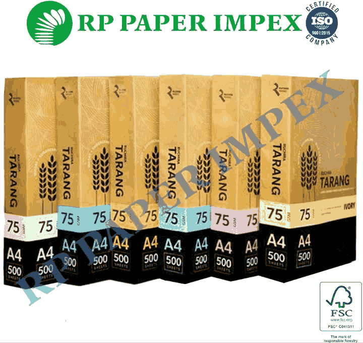 A4 75 GSM Coloured Copy Paper (Yellow,Green,Blue,Pink,Lemon)