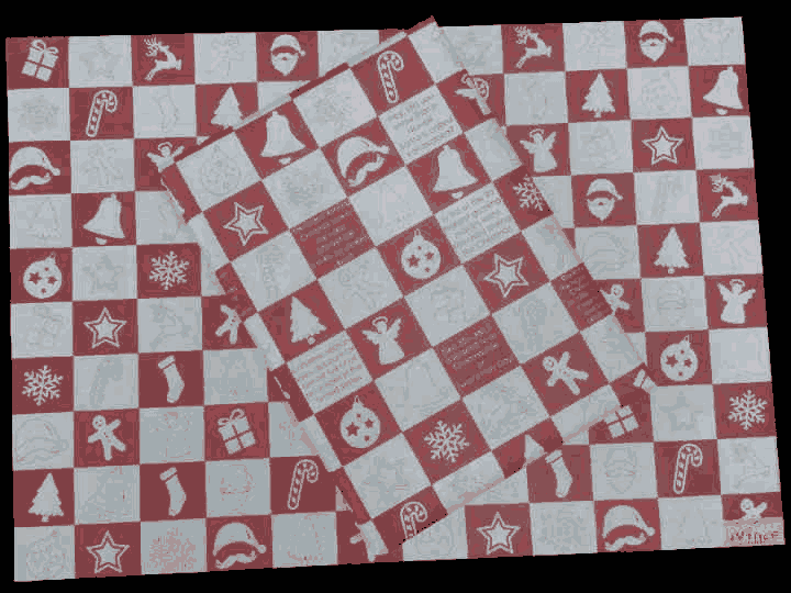 Red And White Classic Christmas Gift Wrapping Paper