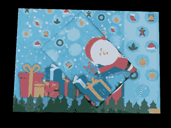 Santa Gifting You at Christmas Gift Wrapping Paper