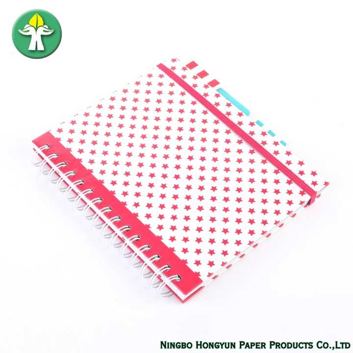 School/Office Spiral Custom Hardcover Print Notebook