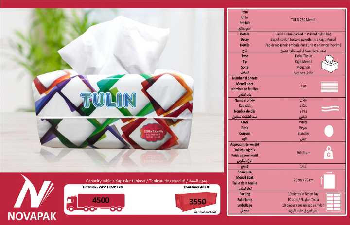 TULIN 250 Facial Tissue Paper