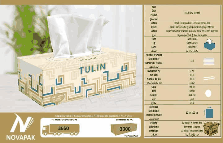 Facial Tissue Paper TULIN 150