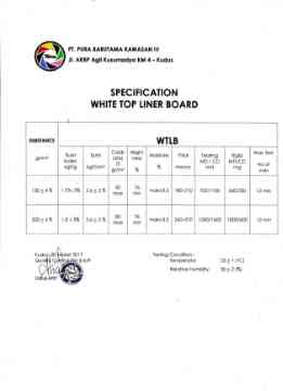 White Top Liner Board