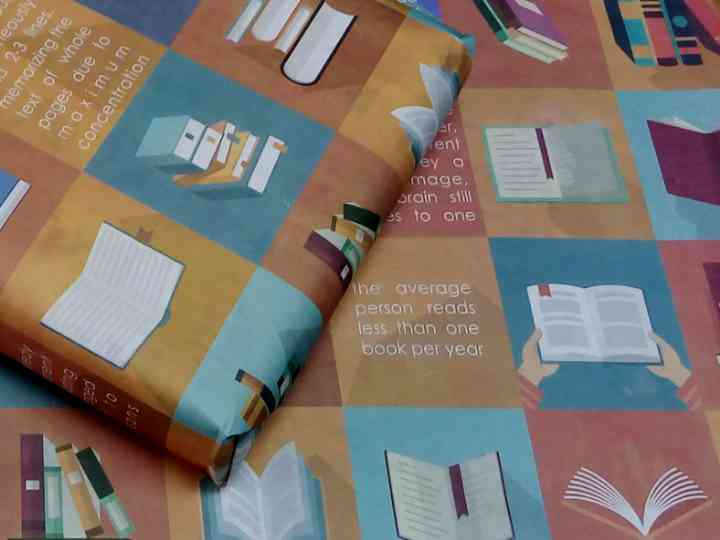 Books and Reading Facts Gift Wrapping Paper