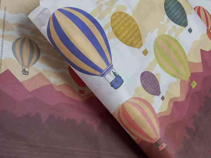 Hot Air Balloon Gift Wrapping Paper