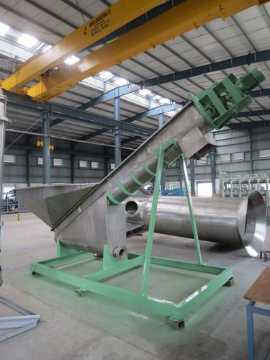 Dehydrating Screw Conveyor for Paper Pulp Mill Machine