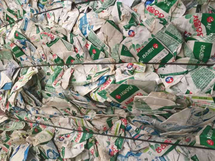 Milk Cartons Waste