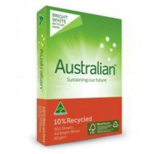 Australian 10% Recycled Whitr A4 PAPER 8