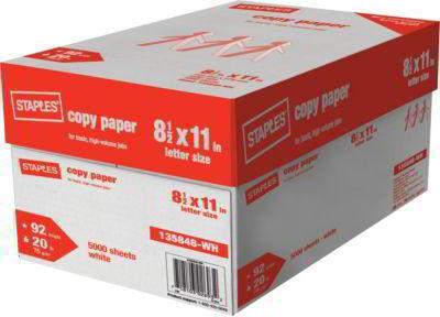 Staples copy paper Letter Size 8.5*11,75