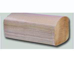 Towel paper brown single fold/V fold