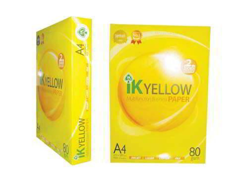 IK Yellow A4 Copy Paper 80gsm