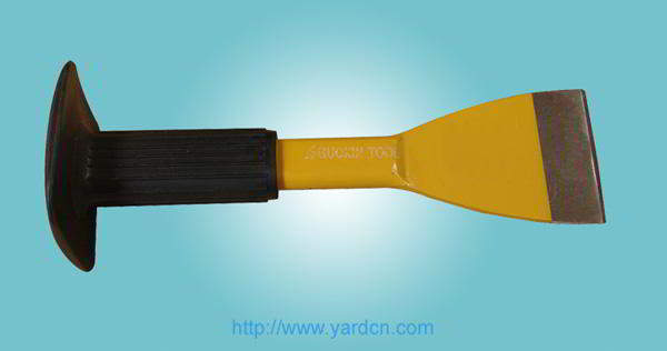 Brick Chisel with Rubber Handle