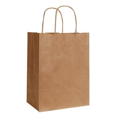 100% Recycled Kraft Shopping Bags