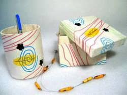 Retro Paper Pen Stand and Box